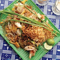 "This Pad Thai is not the dish from the neighborhood take-out joint. ""It ain't made with chicken,"" says Ricker, whose traditional take—pleasantly funky with fish sauce and preserved radish and a touch sour from tamarind—is meant to be eaten in the evening as a stand-alone dish."