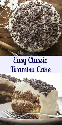 Tiramisu, an easy authentic Italian tiramisu classic recipe. Made with a delicious Italian sponge cake that holds in all that creamy perfect filling. |anitalianinmykitchen.com