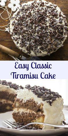 Tiramisu, an easy authentic Italian tiramisu classic recipe. Made with a delicious Italian sponge cake that holds in all that creamy perfect filling. |anitalianinmykitchen.com