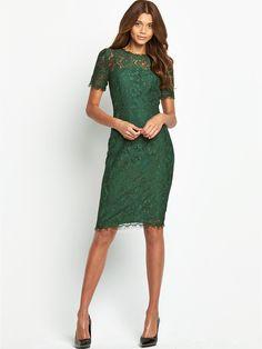 Bow Back Short Sleeve Lace Dress, http://www.littlewoods.com/definitions-bow-back-short-sleeve-lace-dress/1449677227.prd