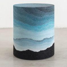 Our selection of original stools: Stool Drum, Fernando Mastrangelo, Studio FM / s. Cement Art, Concrete Crafts, Concrete Art, Concrete Planters, Polished Concrete, Beton Diy, Concrete Furniture, Ideias Diy, 3d Prints