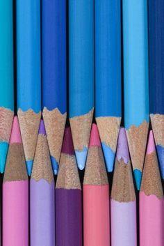 Blue + Pink + Purple •~• colored pencils