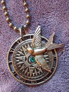 Hey, I found this really awesome Etsy listing at https://www.etsy.com/listing/166448566/steampunk-bird-compass-and-clock