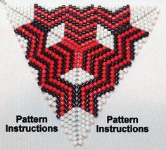 Bead Pattern Instructions Peyote Triangle by SkeeterStudios