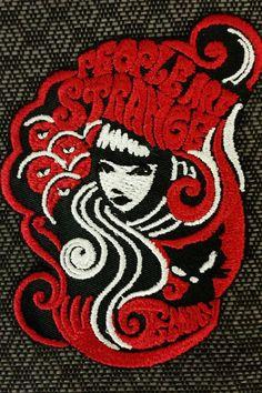 Emily the Strange Embroidered Iron On Patch,  People are strange embroidered patch, Iron On Patch by GoMonogram on Etsy https://www.etsy.com/listing/385059164/emily-the-strange-embroidered-iron-on