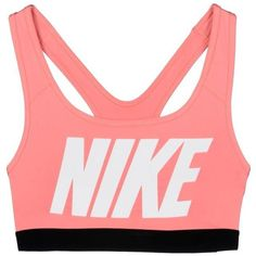 Nike Top (£26) ❤ liked on Polyvore featuring tops, underwear, bra, salmon pink, nike jerseys, nike, pink jersey and red jersey