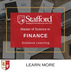Today's businesses need well-timed information that company executives rely on to make important decisions, for the purpose of strengthening the value of the organisation. By studying an MSc in Finance through distance learning, you get to apply the skills and knowledge that you will gain instantly and you will have the flexibility to study without taking a career break.