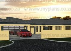 5 Bedroom House Plan MLB-1815D – My Building Plans South Africa Village House Design, Village Houses, My Building, Building Plans, 6 Bedroom House Plans, Architect Design House, Built In Braai, Tuscan House, Open Plan