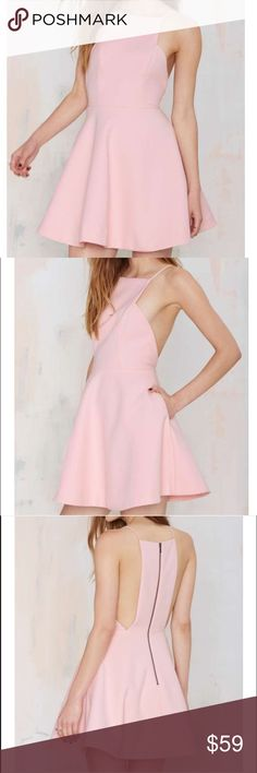 Pink Keepsake Dress Super cute pink dress! Bought this on Posh but didn't fit me. Would be perfect for a summer party! Nasty Gal Dresses Mini