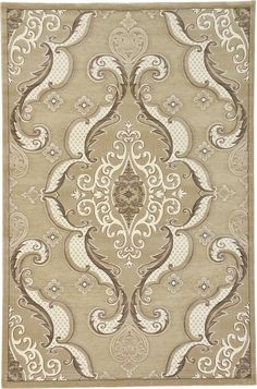 Light Brown 6 6 X 9 11 Damask Rug Area Rugs