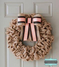 burlap wreath, fall wreath, fall decorating