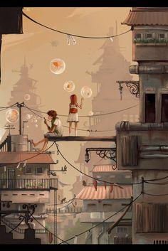 """""""City Escape"""" by Rozefire on Deviant Art"""