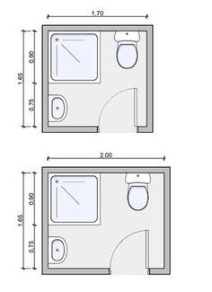 three quarter bath floorplan, three quarter bath drawing,