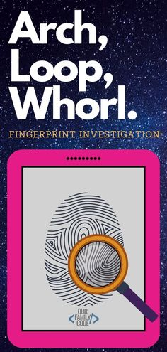 Family Fingerprint Investigation STEAM Activity - Learn the science of fingerprints and how they are used to identify people in crime investigations. Easy Science Experiments, Science Activities For Kids, Steam Activities, Preschool Science, Camping Activities, Family Activities, Stem For Kids, Learning Through Play, Fingerprints