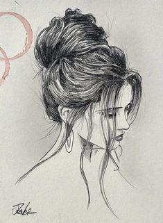 Loui jover - babel loui jover в 2019 г. Girl Drawing Sketches, Girly Drawings, Art Drawings Sketches Simple, Pencil Art Drawings, Cool Drawings, Art Drawings Beautiful, Charcoal Art, How To Draw Hair, Art Sketchbook