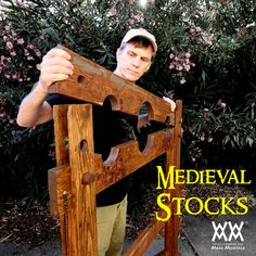 Woodworking Project - Medieval Stocks