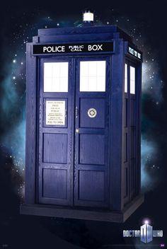 Póster Doctor Who. Cabina Tardis