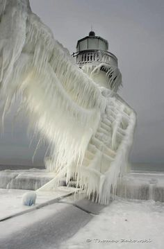 Previous Pinner labeled this picture as Lighthouse in Michigan City, IN. I have seen similar pictures labeled St Joseph Northpier Lighthouse in St Joseph, MI. Either way, great picture!