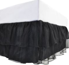 Tadpoles Triple Layer Tulle Twin Bed Skirt, Black by Sleeping Partners, http://www.amazon.com/dp/B0054W4LZY/ref=cm_sw_r_pi_dp_lOK-pb1P21M7X