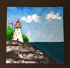 Lighthouse Project and New Giveaway - Make it 3 dimensional with cardboard cut outs and joint compound