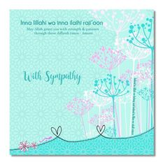 This sympathy Islamic Greeting Card is a touching way to let the recipient know that you are sorry for their loss and thinking about them. Each card is individually cello wrapped with a white envelope. - Printed on textured board - square - Blank inside Sympathy Cards, Greeting Cards, Texture Board, Imam Ali Quotes, Wishes For Baby, Condolences, Gift Bags, Ramadan, Patience