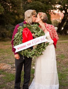 Swedish Styled Christmas Wedding Inspiration Shoot on Green Wedding Shoes