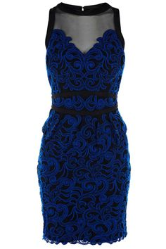 Figure-flattering dress with embroidery lacework