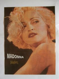 Madonna Mini Poster from Greek Magazines clippings 1970s 1990s   eBay
