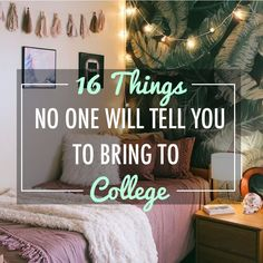 16 Things No One Will Tell You To Bring To College Creating a packing list for school can be tough. Here are some things no one tells you to bring to college that you will actually need to have! College Dorm List, College Dorm Checklist, College Packing Lists, College Dorm Essentials, College Snacks, Scholarships For College, College Dorm Rooms, College Students, Packing Tips