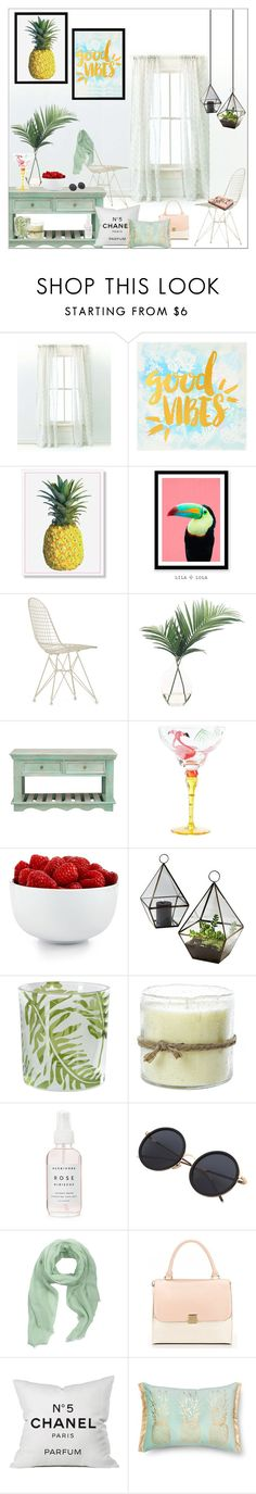 """""""tropical home II"""" by m-huber ❤ liked on Polyvore featuring interior, interiors, interior design, home, home decor, interior decorating, Pine Cone Hill, Vitra, NDI and Pier 1 Imports"""