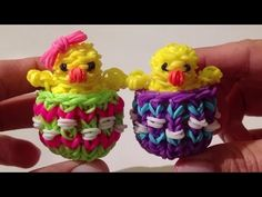 Rainbow Loom Nederlands, Paas-eierdopje (Easter eggshell, original design) - YouTube