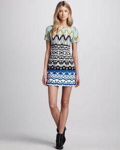 Mixed-Print Shift Dress (Stylist Pick!) at CUSP.