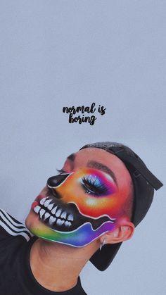 james charles lockscreen👄 Skull Makeup, Sfx Makeup, Costume Makeup, Makeup Art, Beauty Makeup, Makeup Goals, Makeup Inspo, Makeup Inspiration, Makeup Ideas