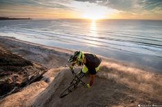 DVO Suspension Team Rider Michal Kollbek getting the last bit of light while taking in the amazing California winter sunset. It was a great day of shooting!  Follow us on Instagram! @kollbi - Rider @energyjunkie - Photographer