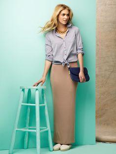 Obakki, Antonia Jersey Maxi Skirt