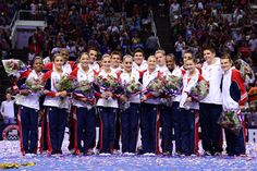 All together now - Mens and Womens  Olympic Gymnastic Team