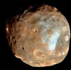 Phobos. One of the moons of Mars.