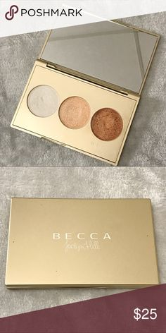 BECCA X Jaclyn Hill Champagne Glow Palette Another gorgeous limited edition collab with Becca Cosmetics and YouTuber Jaclyn Hill. This palette features the infamous Champagne pop along with Pearl and Bronzed Copper. Three shimmering skin perfectors that work for the fairest to deepest skin tones. BECCA Makeup Luminizer