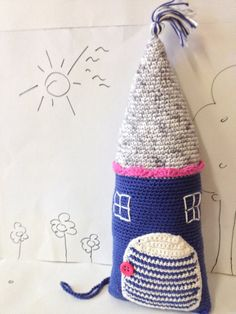 Crochet Blue Pillow Tooth Fairy Pouch Crochet by CuddleandYarn