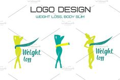Weight loss logo by A.Lila on @creativemarket