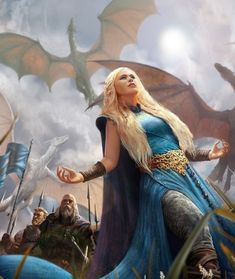 Game Of Thrones Artwork, Game Of Thrones Fans, Daenerys Targaryen, Khaleesi, Fantasy World, Fantasy Art, Fantasy Castle, Dragon Medieval, Medieval Hair