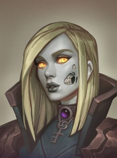 Undead girl with facial decor Fantasy Character Design, Character Design Inspiration, Character Concept, Character Art, Concept Art, Character Ideas, World Of Warcraft Characters, Dnd Characters, Fantasy Characters
