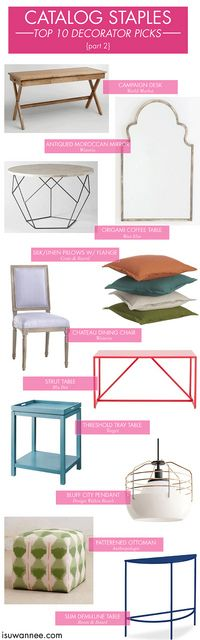 Decorator Picks, favorite home accessories, jamie meares, catalog finds Interior Design Business, Interior Design Tips, Interior Decorating, Interior Wall Colors, Home Decor Catalogs, Pinterest Home, Atlanta Homes, Home Additions, Home Furnishings