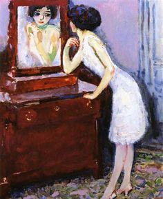 Woman before a mirror - Kees van Dongen - Post-Impressionism, 1908