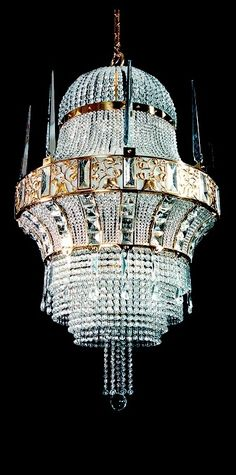 """Oblivion squeals """"luxury"""" further than a chandelier! Take a look at this original one unique design Luxury Chandelier, Chandelier In Living Room, Antique Chandelier, Luxury Lighting, Unique Lighting, Interior Lighting, Chandelier Lighting, Luxury Interior, Bedroom Lighting"""