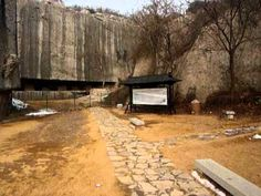 """Yangshan Quarry, China.  I take issue with the title referring to an """"unfinished stele"""", and would suggest instead these are in-situ megalithic blocks in the process of being quarried."""