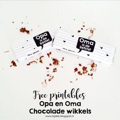 bijdeb: Chocolade wikkels voor Opa en Oma...