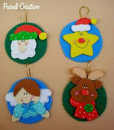 Esferas Christmas Activities, Christmas Crafts For Kids, Xmas Crafts, Homemade Christmas, Christmas Diy, Handmade Christmas Decorations, Felt Christmas Ornaments, Christmas Gift Tags, Creative Gift Wrapping