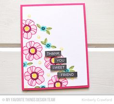 Pretty Poses, Label Maker Sentiments - Kimberly Crawford  #mftstamps