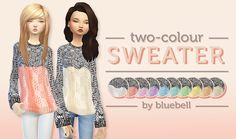 Sims 4 CC's - The Best: Sweater by Bluebell Simmer